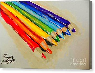 Color Pencils Canvas Print