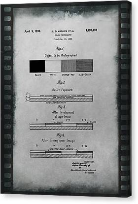 Color Photography Patent On Film Canvas Print