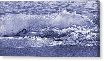 Green Energy Canvas Print - Color Quiet Wave by Betsy Knapp