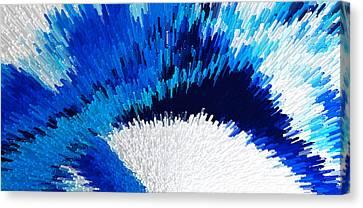 Color Shock 2 - Vibrant Digital Painting Art Canvas Print by Sharon Cummings