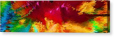 Bold Colors Canvas Print - Color Shock 4 - Vibrant Digital Painting by Sharon Cummings