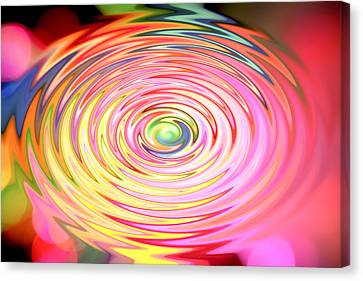 Color Spin Canvas Print by Les Cunliffe
