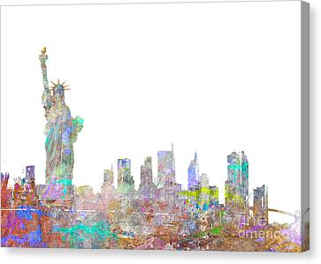 Times Square Canvas Print - Color Splash New York by Aimee Stewart