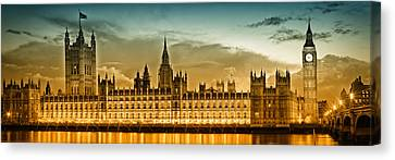 Color Study London Houses Of Parliament Canvas Print