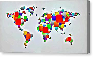 Color The World Canvas Print by Florian Rodarte