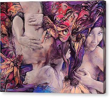 Color Vertigo Canvas Print by Graszka Paulska