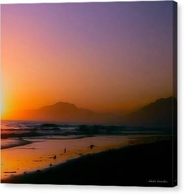 Color Wash Sunset  Canvas Print by Debra     Vatalaro