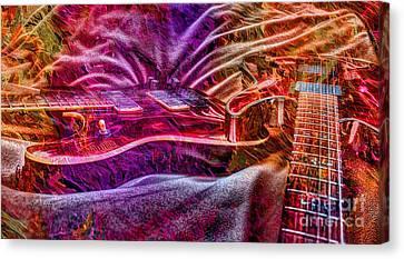 Color Wheel Digital Guitar Art By Steven Langston Canvas Print by Steven Lebron Langston