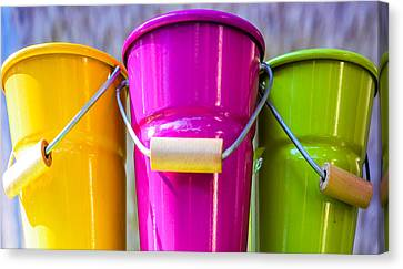 Canvas Print featuring the photograph Pots Trio by Dany Lison