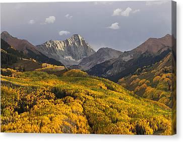 Colorado 14er Capitol Peak Canvas Print by Aaron Spong
