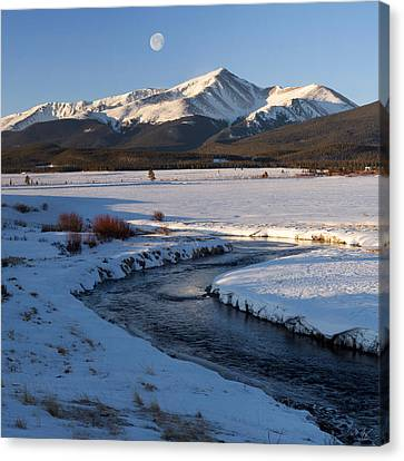 Colorado 14er Mt. Elbert Canvas Print by Aaron Spong