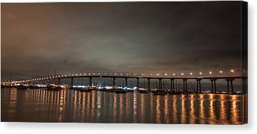 Coronado Bridge San Diego Canvas Print by Gandz Photography
