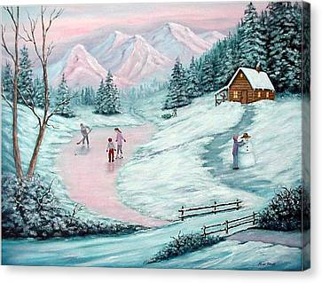 Colorado Christmas Canvas Print by Fran Brooks
