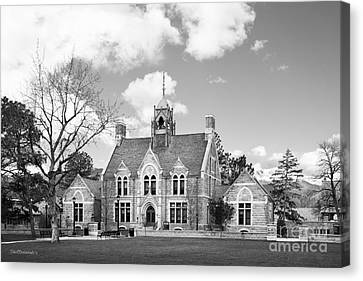 Colorado College Cutler Hall Side View Canvas Print by University Icons