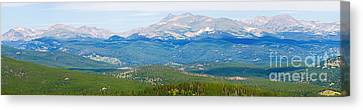 Colorado Continental Divide Panorama Hdr Crop Canvas Print by James BO  Insogna