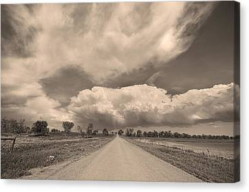 Colorado Country Road Sepia Stormin Skies Canvas Print by James BO  Insogna