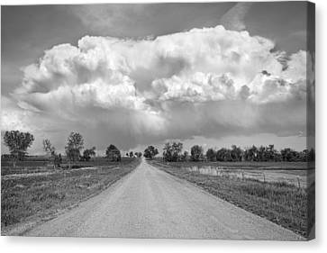 Colorado Country Road Stormin Bw Skies Canvas Print by James BO  Insogna