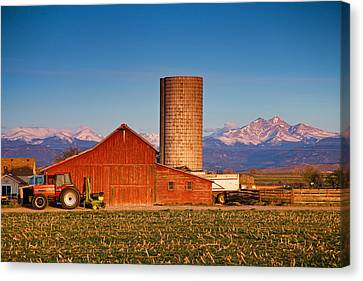 Colorado Farming Canvas Print