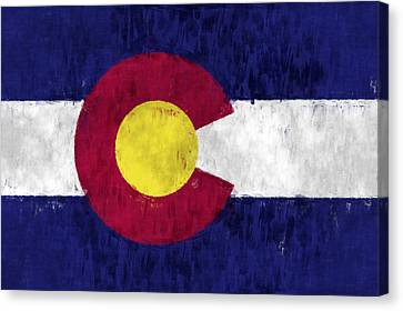 Colorado Flag Canvas Print by World Art Prints And Designs