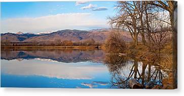 Colorado Front Range Coot Lake Reflections Panorama  Canvas Print by James BO  Insogna