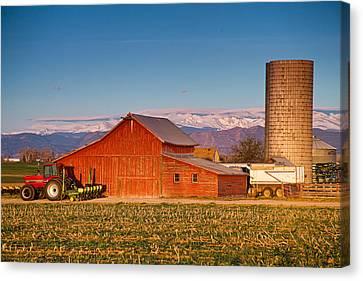 Colorado Front Range Farming  Canvas Print