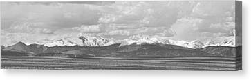 Colorado Front Range Rocky Mountain Agriculture Panorama Bw Canvas Print by James BO  Insogna