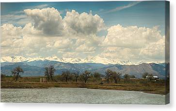 Rocky Mountain Canvas Print - Colorado Front Range Rocky Mountains Panorama by James BO  Insogna