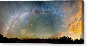 Colorado Indian Peaks Wilderness Milky Way Panorama Canvas Print by James BO  Insogna