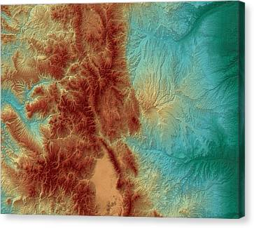 Colorado Map Art Canvas Print by Paul Hein