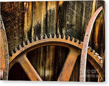 Colorado Mining Gear Canvas Print by Catherine Fenner
