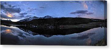 Colorado Moon To Milk Canvas Print by Mike Berenson