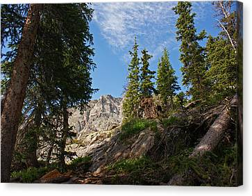 Colorado Mountain Hike Canvas Print by Michael J Bauer