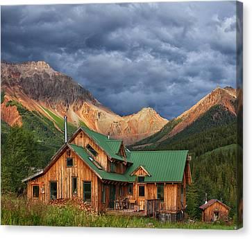 Colorado Mountain Home Canvas Print by Darren  White