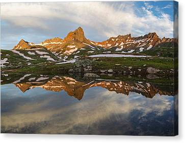 Colorado Mountain Reflection Canvas Print by Aaron Spong