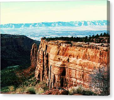 Canvas Print featuring the photograph Colorado National Monument by Polly Peacock