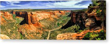 Colorado National Monument Ute Canyon Panorama Canvas Print by Christopher Arndt