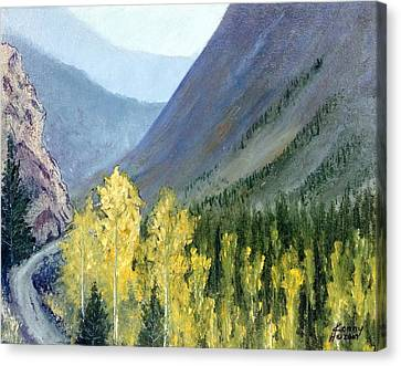 Canvas Print featuring the mixed media Colorado Pass by Kenny Henson