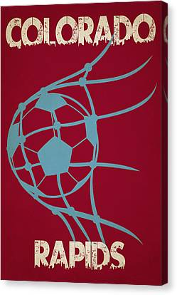 Colorado Rapids Goal Canvas Print by Joe Hamilton