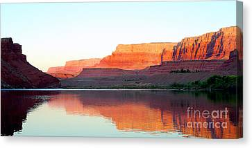 Colorado River At Dawn Panorama Canvas Print by Douglas Taylor