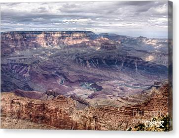 Colorado River At Grand Canyon Canvas Print