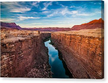 Cliff Lee Canvas Print - Colorado River At Marble Canyon by Erica Hanks