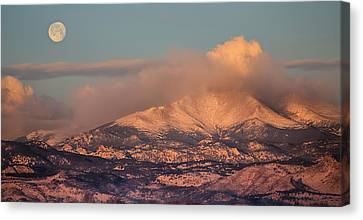 Colorado Rocky Mountain Full Moon Set Panorama Canvas Print by James BO  Insogna