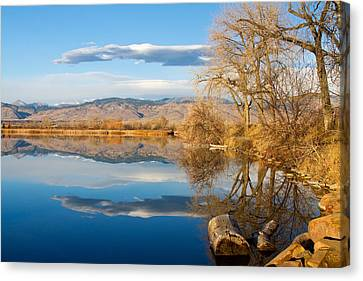 Colorado Rocky Mountain Lake Reflection View Canvas Print by James BO  Insogna