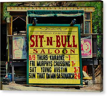 Colorado Sit-n-bull Saloon  Canvas Print by Janice Rae Pariza