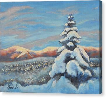 Colorado Snow Glow Canvas Print