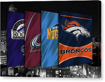 Colorado Sports Teams Canvas Print by Joe Hamilton