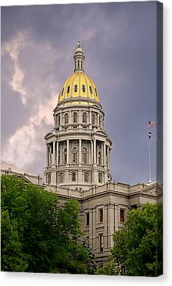 Colorado State Capitol Building Denver Co Canvas Print by Christine Till