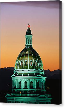 Colorado State Capitol Building Denver Canvas Print by Panoramic Images