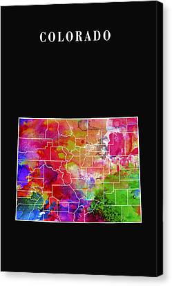 Colorado State Canvas Print by Daniel Hagerman