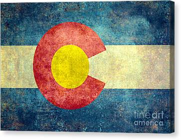 Colorado State Flag Canvas Print by Bruce Stanfield